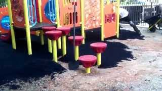 Charlotte Playground Project - Video 4 EPDM Rubber Playground Surfacing