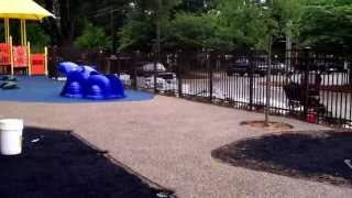 Charlotte Playground Project - Video 6 Sand Colored Rubber Surfacing
