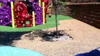 Charlotte Playground Project - Video 7 Completed Rubber Playground Surface